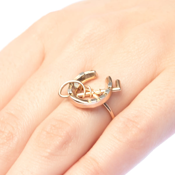 Barbaro vintage horseshoe ring from Trumpet & Horn
