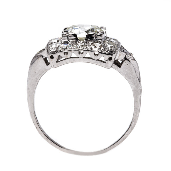 Stunning Late Art Deco White Gold Engagement Ring with Diamonds | Barnsley from Trumpet & Horn