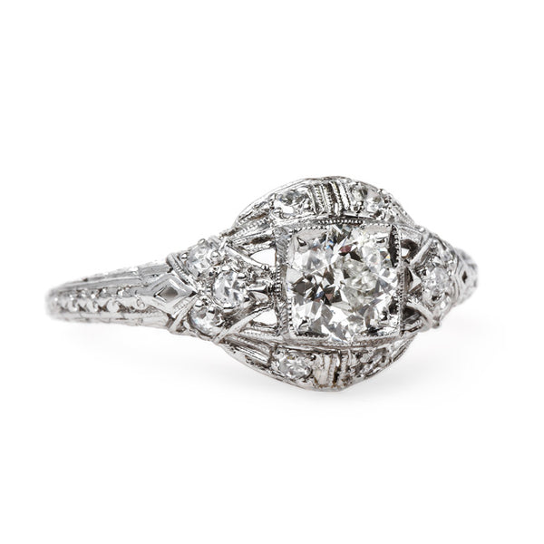 Classic Art Deco and Platinum Engagement Ring | Baron's Court from Trumpet & Horn
