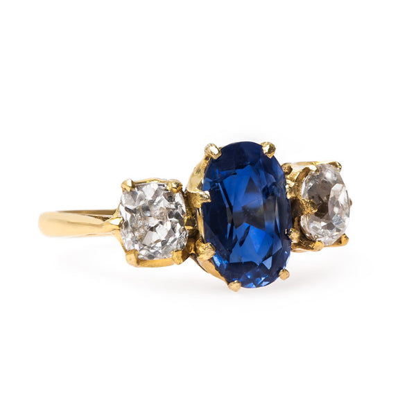 Dazzling Sapphire Ring with French Hallmarks | Bay Bridge from Trumpet & Horn