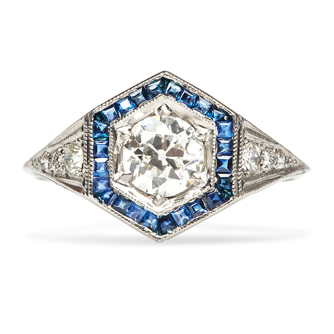 Bayfield vintage diamond and sapphire ring from Trumpet & Horn