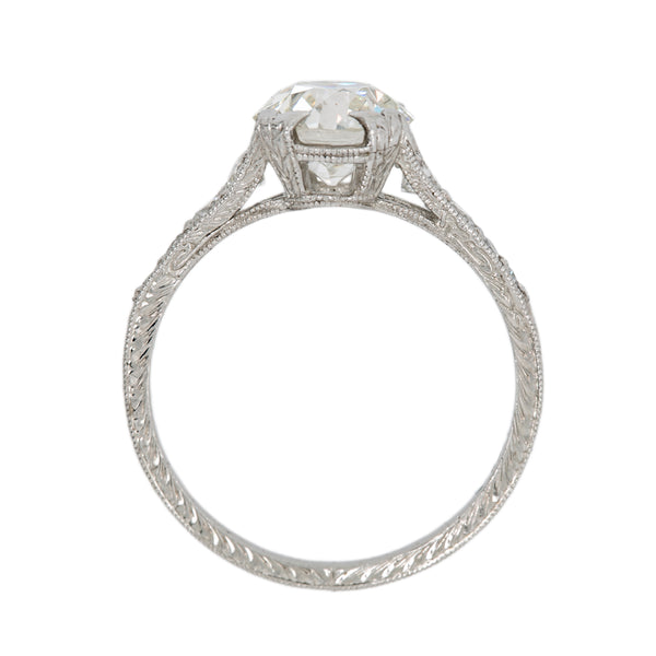 Gleaming White Edwardian-Inspired Diamond Engagement Ring