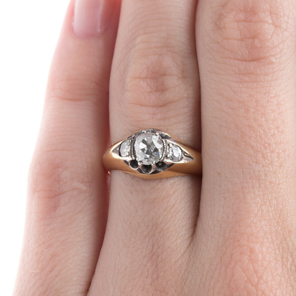 Bold Victorian Three Stone Ring | Beddingham from Trumpet & Horn
