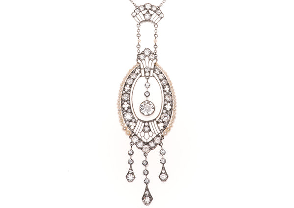 Belle Epoch Diamond Earrings & Necklace Set