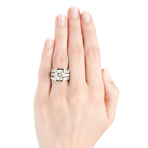 Belle Meade Vintage Diamond Solitaire Engagement Ring from Trumpet & Horn