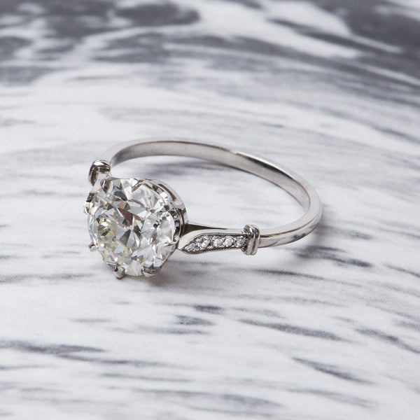 Classic Vintage-Inspired Solitaire Engagement Ring | Bellevue from Trumpet & Horn
