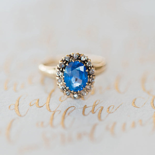 Antique Unheated Sapphire Ring | Photo by Arielle Peters
