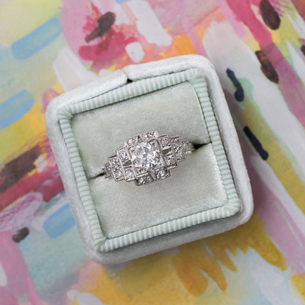 Glittering Geometric Engagement Ring | Bellwoods from Trumpet & Horn