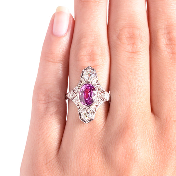 Vintage Unique Ruby Diamond Engagement Ring | Bennington from Trumpet & Horn
