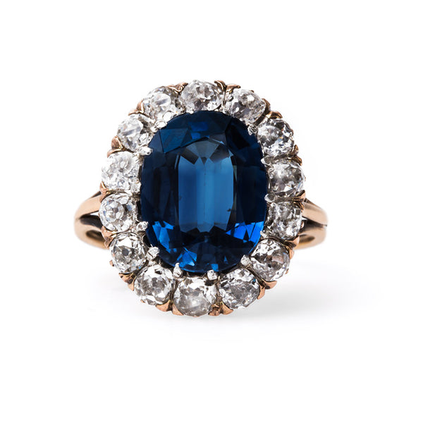 Late Victorian Sapphire Engagement Ring | Bentley Ridge from Trumpet & Horn