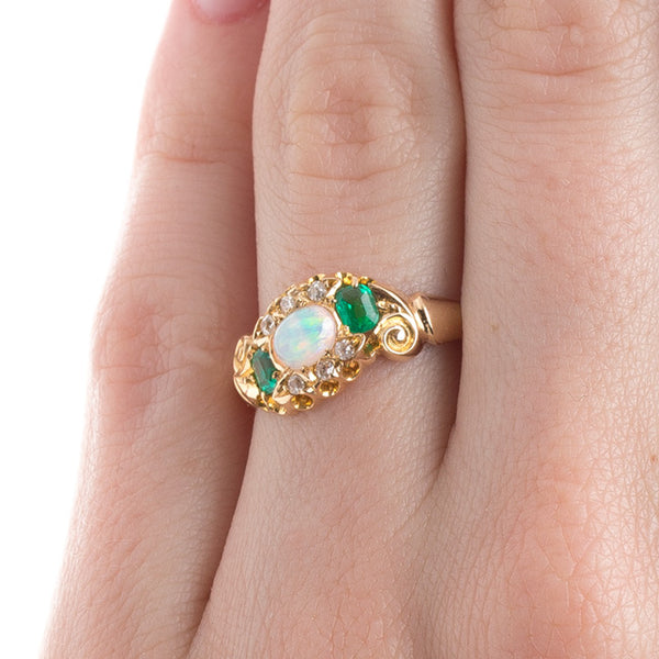 Whimsical Opal Ring with English Hallmarks | Birchcrest from Trumpet & Horn