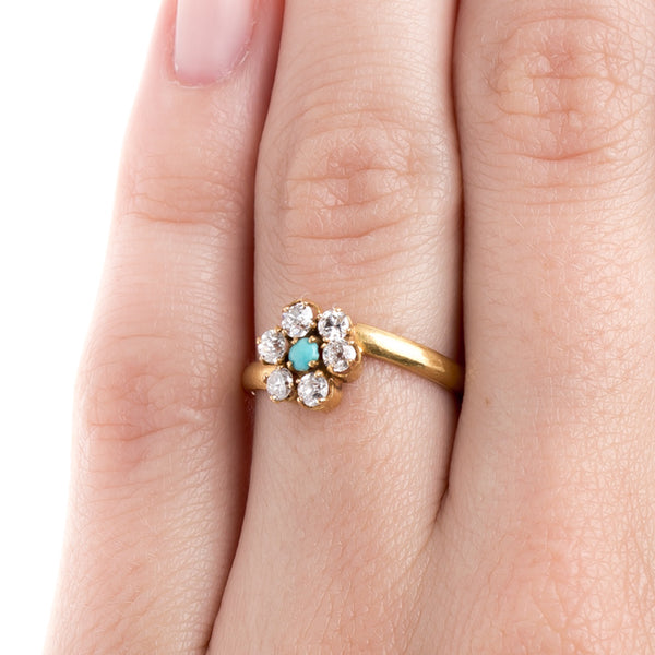 Floral Turquoise Ring | Blossom from Trumpet & Horn