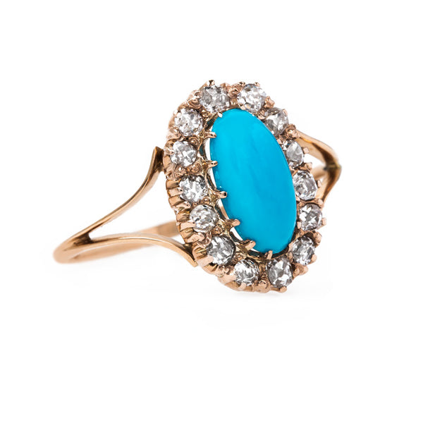 Exquisite Victorian Turquoise Ring | Blue Hill from Trumpet & Horn