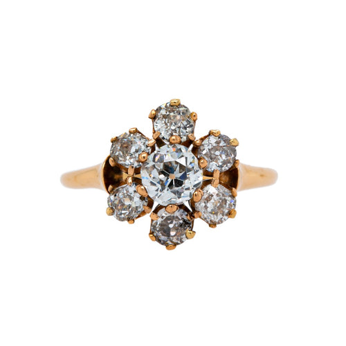 Enchanting Victorian Halo Engagement Ring | Bluff Drive