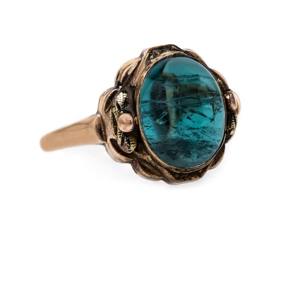 Unique Green Tourmaline Vintage Ring | Bolderwood from Trumpet & Horn