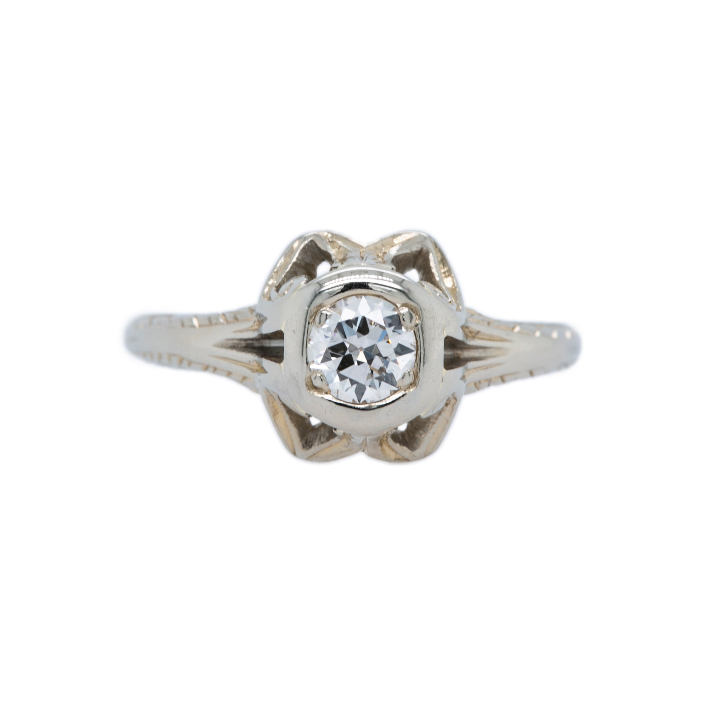 Victorian Antique Vintage Diamond Engagement Ring