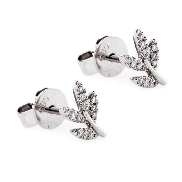 The Perfect Gift for Her | Bottlebrush Micropave Earrings from Trumpet & Horn