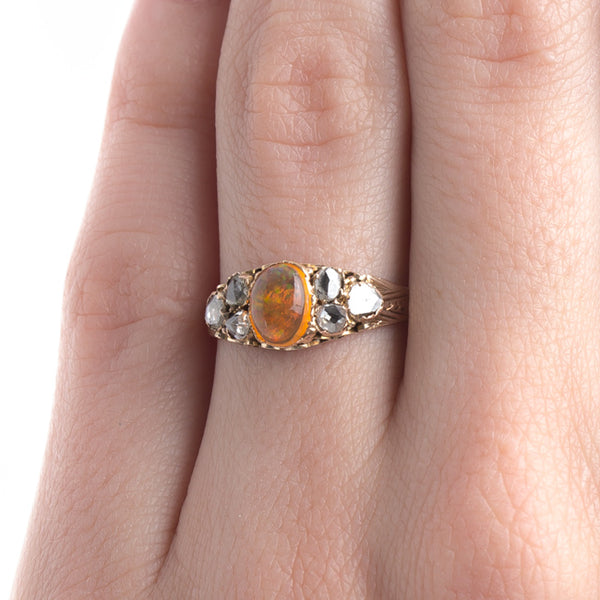 Authentic Early Victorian Era Opal Engagement Ring with English Hallmarks | Boulder Creek from Trumpet & Horn