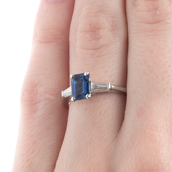 Classically Beautiful Sapphire and Diamond Ring | Brantling from Trumpet & Horn