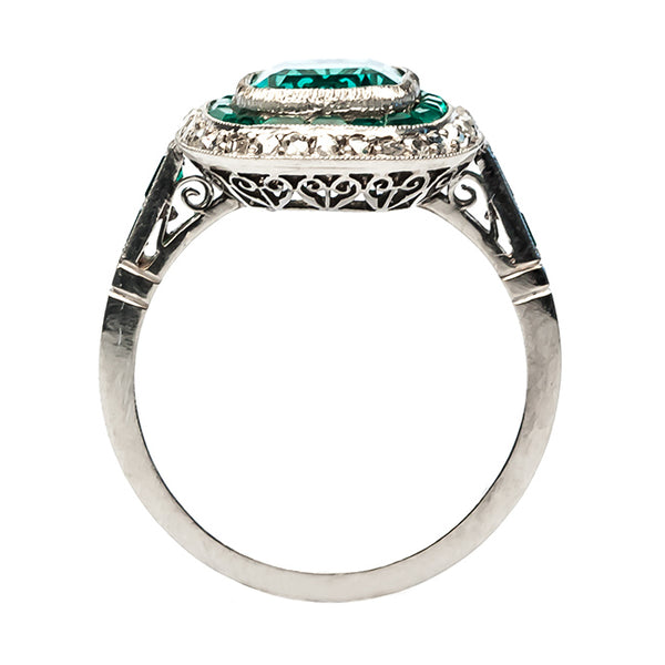 Stunning Emerald and Diamond Halo Engagement Ring | Breckenridge from Trumpet & Horn