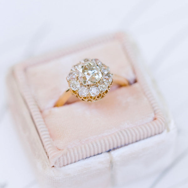 Victorian Cluster Ring with French Hallmarks | Photo by Brianna Wilbur