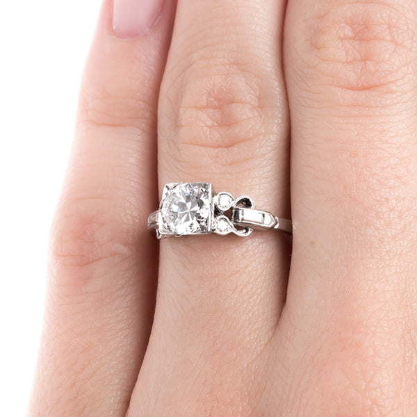 Art Deco Engagement Ring with Incredibly White Diamond | Bridgewater from Trumpet & Horn
