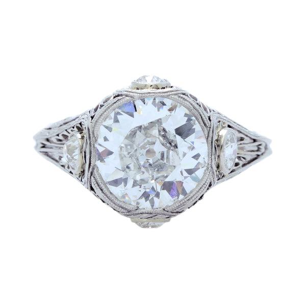 An Amazing Early Art Deco Platinum and Diamond Engagement Ring | Brighton Oaks