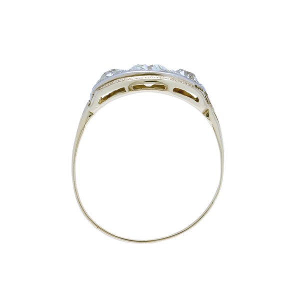 A Wonderful Art Deco Two-Tone Three Stone Diamond Ring | Broadlands