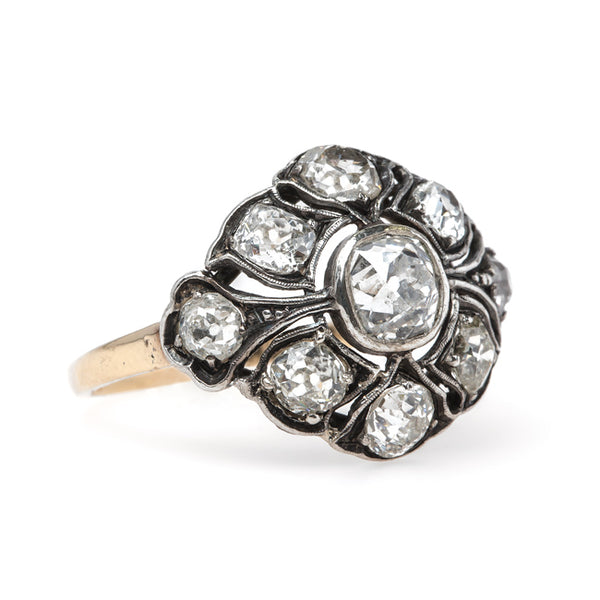 Impeccable Bombe Style Victorian Cluster Ring | Broken Arrow from Trumpet & Horn
