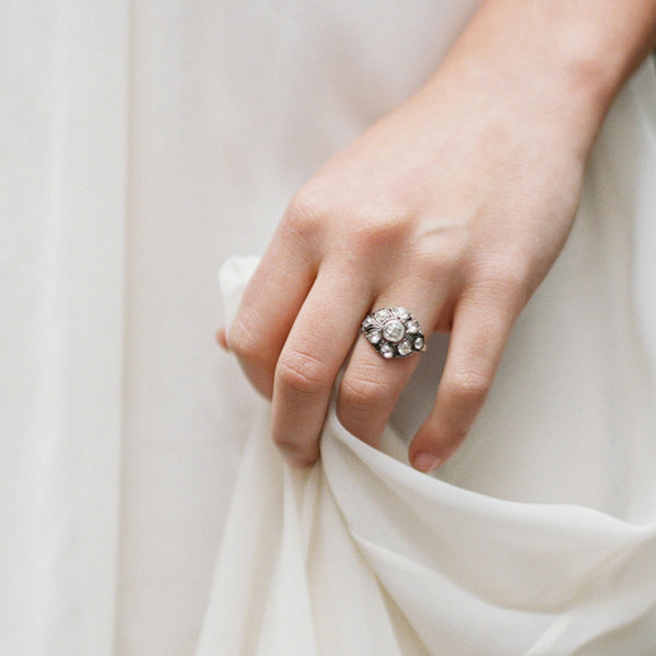 Impeccable Bombe Style Victorian Cluster Ring | Broken Arrow | Photo by Kyle John