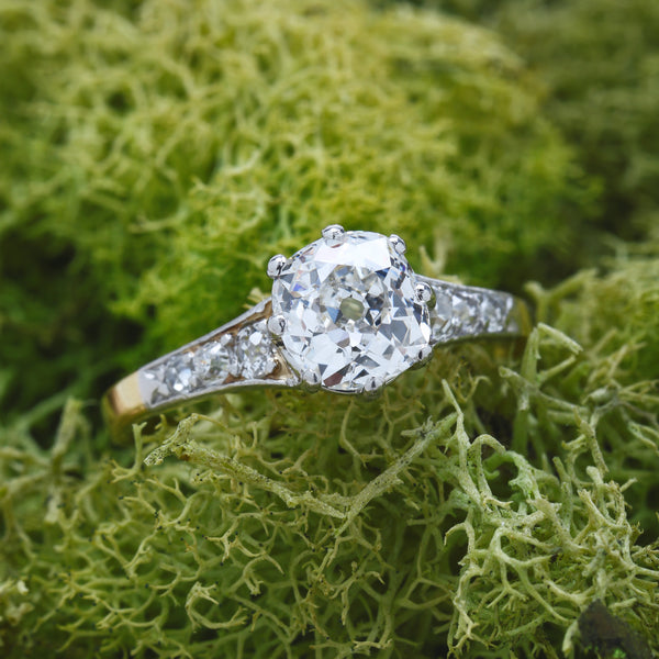 Brookfield Park | Timeless Two-Tone Edwardian Diamond Engagement Ring at Trumpet & Horn