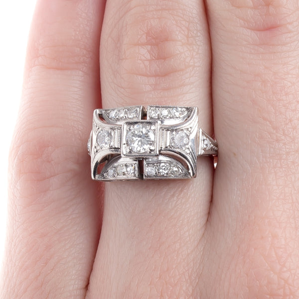 Bold and Geometric Art Deco Engagement Ring | Broxburn from Trumpet & Horn