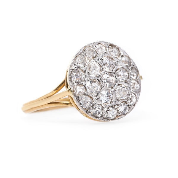 Fabulous Old Mine Cut Diamond Cluster Ring | Brush Hollow from Trumpet & Horn