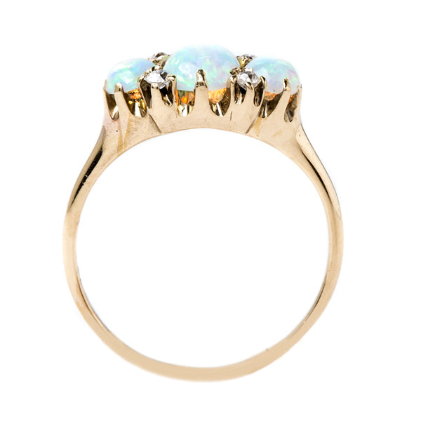 Whimiscal Victorian Era Opal and Diamond Ring | Brushy Ridge from Trumpet & Horn
