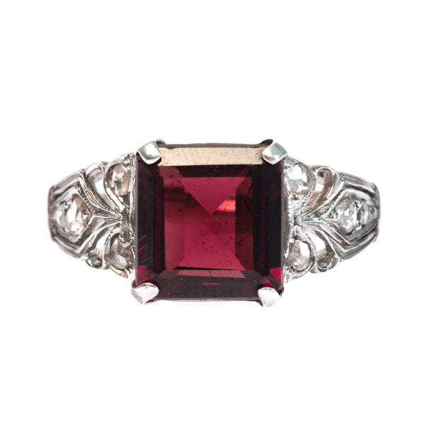Late Art Deco Ring with Garnet | Bryce Canyon from Trumpet & Horn