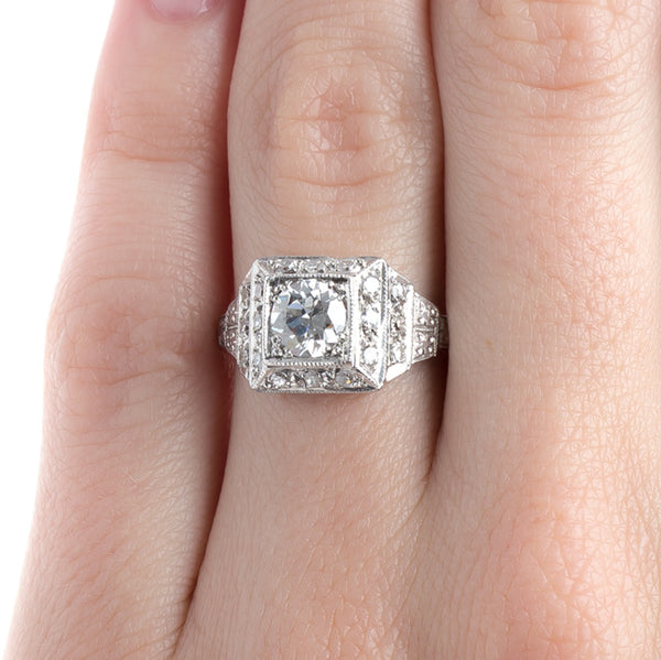 Platinum Box-Set Engagement Ring with EGL Certified Diamond | Buckhannan from Trumpet & Horn