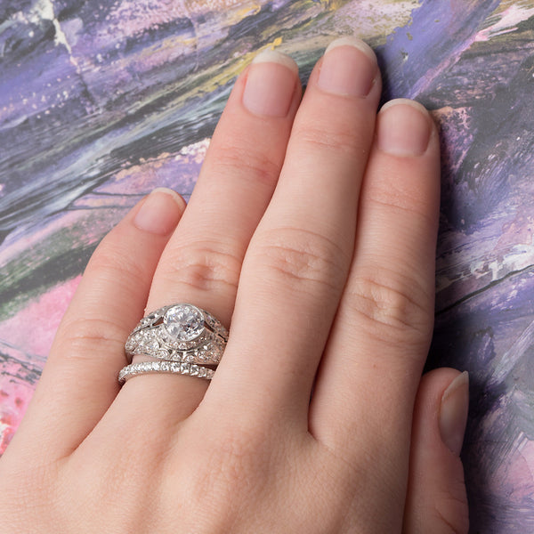 Vintage Edwardian Diamond and Platinum Engagement Ring | Buckingham