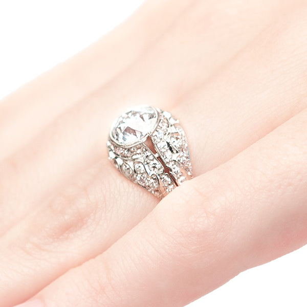 vintage Edwardian era engagement ringVintage Edwardian Diamond and Platinum Engagement Ring | Buckingham