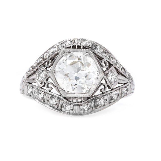 Fabulous Art Deco Engagement Ring | Burnsville from Trumpet & Horn