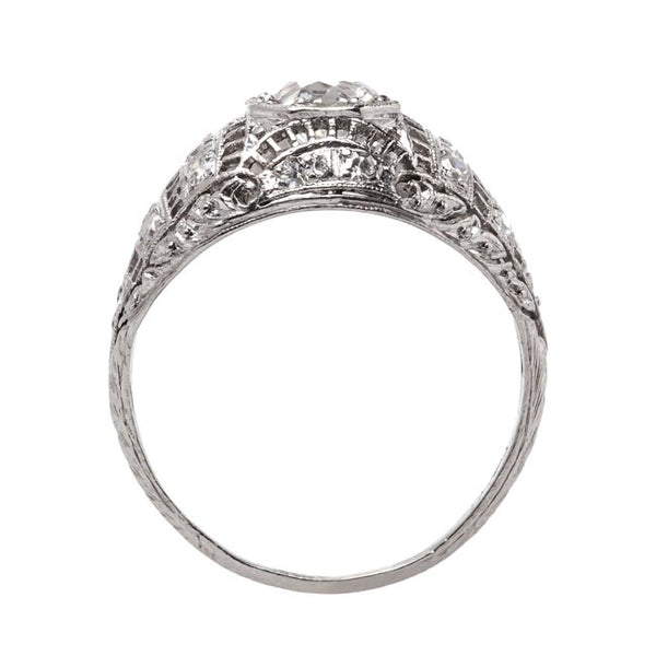 Vintage Edwardian Era Platinum Engagement Ring with Old European Cut Diamond | Byron Bay from Trumpet & Horn
