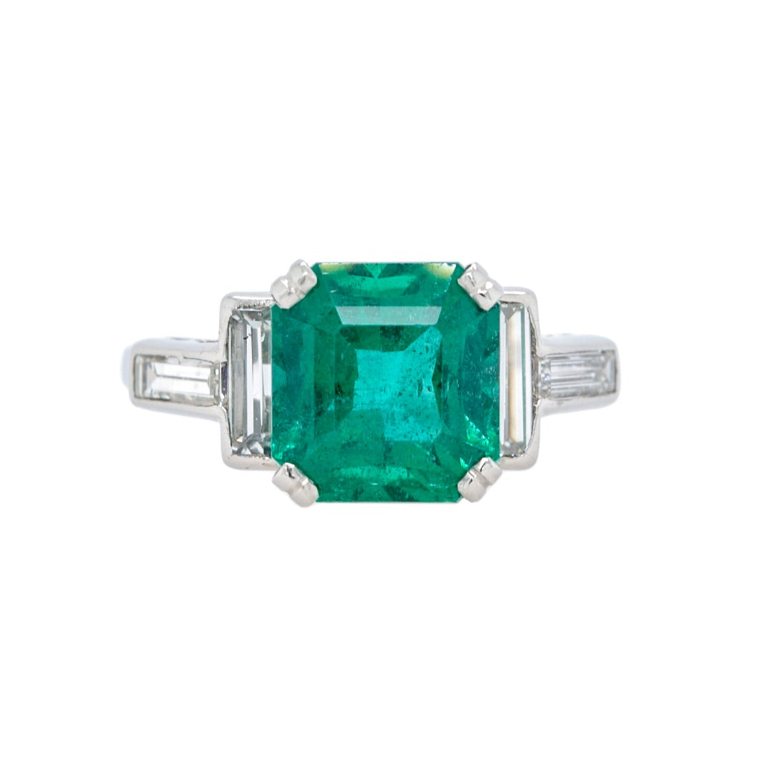 Perfect Mid-Century Emerald Ring with a BIG Look | Wintergreen
