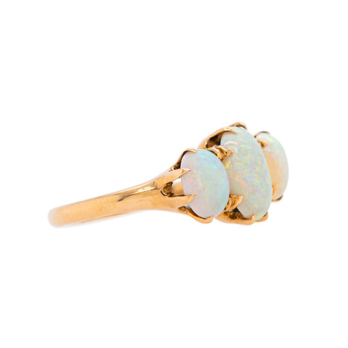 Sweet and Colorful Three-Stone Opal Ring | Gullane