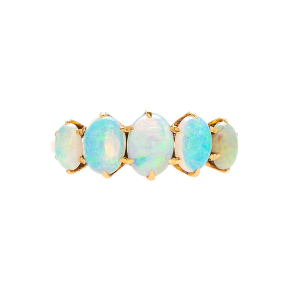 Beautiful & Colorful Antique Five-Stone Opal Ring | Essex Meadow