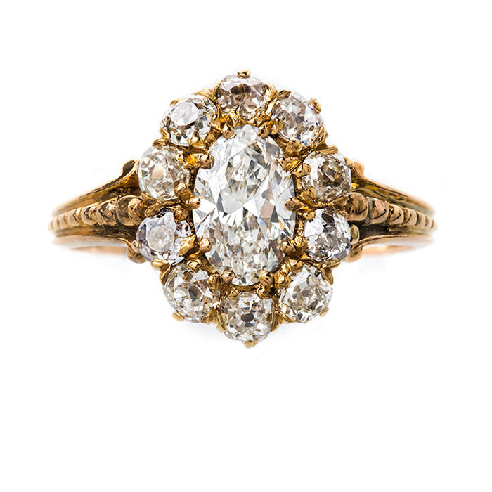 Oval Shaped Victorian Engagement Ring | Caledonia from Trumpet & Horn