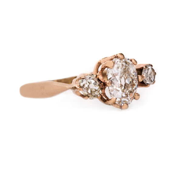 Dreamy Oval Cut Three Stone Victorian Engagement Ring | Calloway from Trumpet & Horn