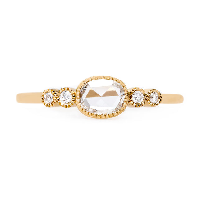 Delicate Rose Cut Engagement Ring | Cambria Yellow Gold from Trumpet & Horn