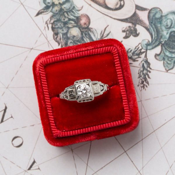 Vintage Engagement Ring | Cameron from Trumpet & Horn