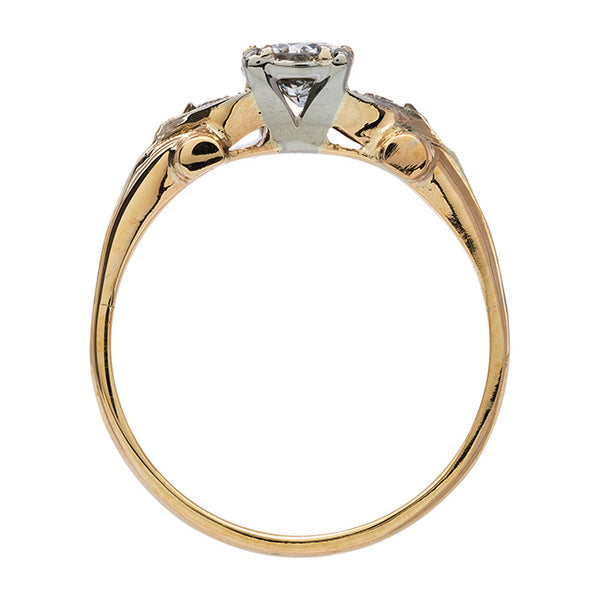 Refined Mixed Metal Retro Engagement Ring | Candlewood from Trumpet & Horn