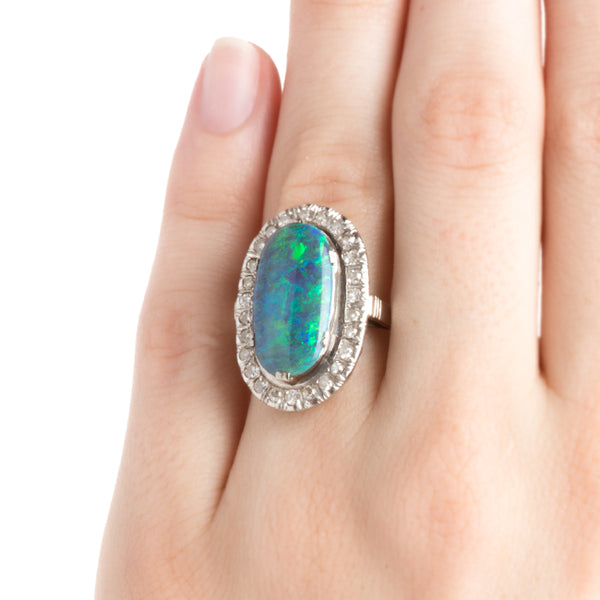Art Deco Opal and Diamond Cocktail Ring | Canoe Hill from Trumpet & Horn