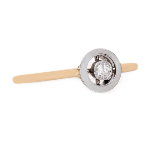Delightful Bezel Set Stick Pin Diamond Ring | Canoe Trail from Trumpet & Horn